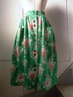 flower print skirt made by vintage cloth - caikot 伝えたくなるヴィンテージ