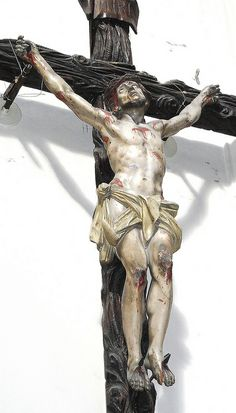 Wooden Crucified Christ - Neapolitan manufacture century - Church of Sant'Anna a Porta Capuana in Naples Image Jesus, Jesus Christ Images, The Cross Of Christ, Christ The King, Catholic Art, Catholic Saints, Religious Images, Religious Art, Anima Christi