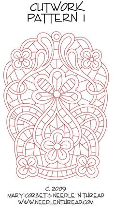 Cutwork Pattern for Hand Embroidery