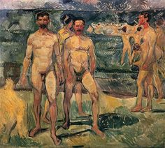 Bathing Men, 1907, by Edvard Munch