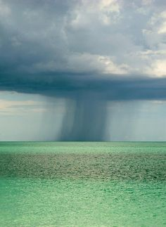 Rain over the ocean | Most Beautiful Pages