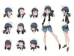 Check out this Marinette expression sheet concept art! Can you recognize some of these expression in the final animation?