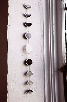 Brush up on your moon phases with this lovely chime — because every witch wort… - Decoration, Room Decoration, Decoration Appartement, Home Decor, Bedroom Decor My New Room, My Room, Deco Studio, Ideias Diy, Stained Glass Projects, Glass Art, Cut Glass, Creations, Spirituality