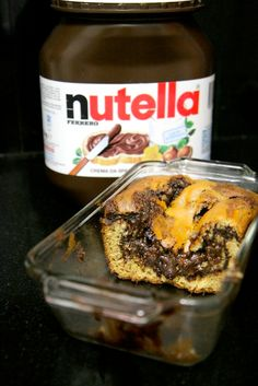 Everything with Nutella tastes good, Nutella + banana = REALLY GOOD! Ingredients 2 cups all-purpose flour 3/4 tsp. baking soda 1/2 tsp. salt 1/4 cup unsalted butter, at room temperature 1 cup gra...