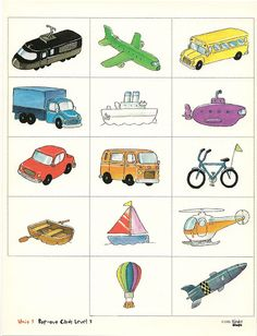 flashcards - Sheila Hernández - Picasa Albums Web Kids Education, Special Education, Transportation Crafts, Train Up A Child, Busy Bags, Boy Art, Teaching Materials, Card Games, Worksheets