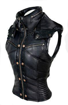 ayyawear leather puma vest - verillas