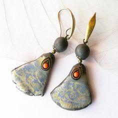 Boucles d'oreille raku P'tites Fresques bijou