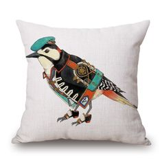 These military uniform bird cushions are ready to defend your home.... They are on the front line of home fashion.