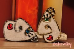 Felt and zipper face brooches | Flickr - Photo Sharing!
