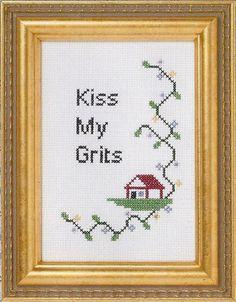 Kiss My Grits by Subversive Cross Stitch