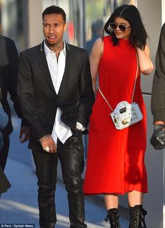 Supportive: Kylie Jenner joined her boyfriend Tyga to the premiere of his movie Dope in Do...