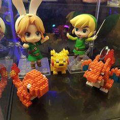 Forgot to mention I got two Nendoroids!  #nanoblock #pikachu #charizard #charmander #nendoroid #legendofzelda #nanolegos #legos #cute #adorable #nerdy #awesome #blocky #pokemon #link #videogames #pixel #minilegos #minihobby #collectibles #collectible