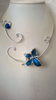 Wedding jewelry Bridemaids jewelry Open by LesBijouxLibellule Sapphire Wedding Rings, Blue Butterfly, Wire Jewelry, Making Ideas, Wedding Jewelry, Gifts For Her, Unique Gifts, Jewelry Making, Bracelets