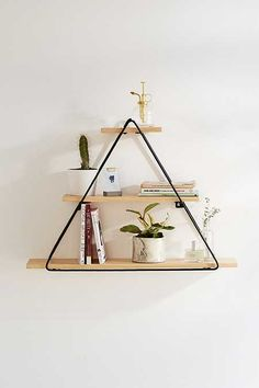 Tiered Triangle Wall Shelf