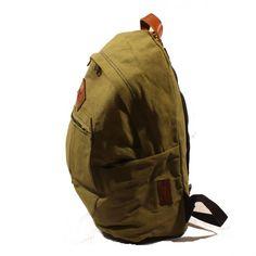 Lare 1 Rucksack aus Canvas und Lederapplikationen