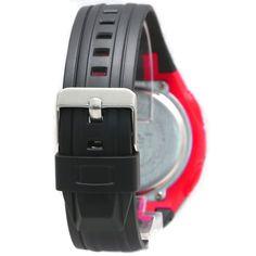 DW441Bブラック時計のケース日アラームバックライト水は、女性のレッドデジタルウォッチレジスト