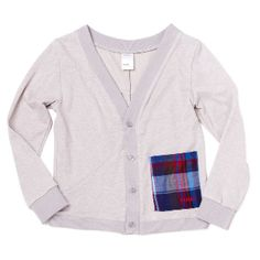Sudo Untouchable Cardigan  Cotton contrast pocket adds a cute touch to an already super cool cut cardigan.
