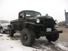 Introduced in the Dodge Power Wagon was a response to G.'s requests for the creation of military-style trucks available to civilians. Check out this unique off-road vehicle in this week's Vintage Monday! Ram Trucks, Dodge Trucks, Jeep Truck, Diesel Trucks, Cool Trucks, Pickup Trucks, Lifted Trucks, Rolling Coal, Cummins Motor
