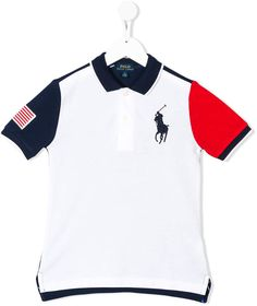 7711184795f546 Ralph Lauren Kids Colour Blocked Polo Shirt - Farfetch