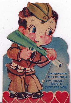 My Heart Beats Just For You - Vintage Soldier Valentine