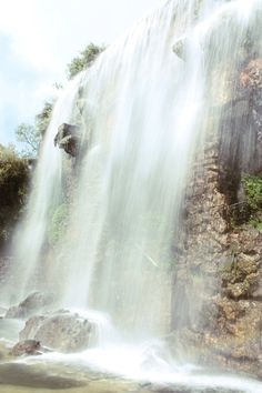 Waterfall on Castle Hill, Nice, France