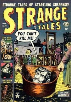 A cover gallery for the comic book Strange Tales Sci Fi Comics, Old Comics, Horror Comics, Marvel Comic Books, Comic Book Characters, Scary Comics, Vintage Comic Books, Vintage Comics, Marvel Masterworks
