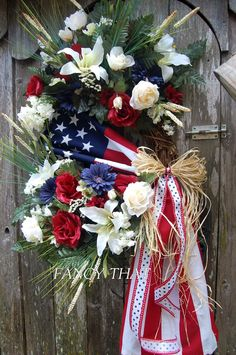 A personal favorite from my Etsy shop https://www.etsy.com/listing/229074801/americana-wreathfourth-of-july