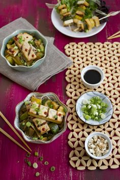 Grilled Tofu with Summer Squash and Buckwheat Soba Noodles via family ...