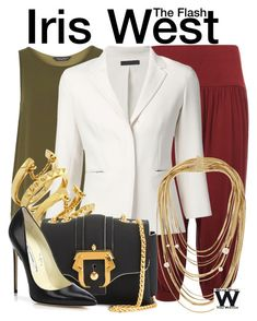 """""""The Flash"""" by wearwhatyouwatch ❤ liked on Polyvore featuring WearAll, Dorothy Perkins, The Row, Rosantica, Vince Camuto, Paula Cademartori, Brian Atwood, television and wearwhatyouwatch"""
