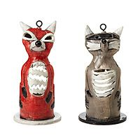 RACCOON AND FOX TEA LIGHT HOLDERS | UncommonGoods