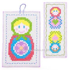 Russian Dolls Duo Cross Stitch Kit