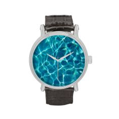 What time is it?  Time to think about water!  Get this clear blue pool water watch and never forget it.