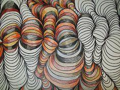 line shading design tutorial - 4th grade art teachers shares lots of art project ideas