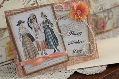 Mothers Day Card Handmade G45 Paper Hot by HotCocoaPhotoBooks, $3.00