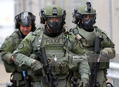 """Public records corroborate what police reform advocates have long insisted: that """"Special Weapons And Tactics"""" units primarily respond to low-risk situations that do not require SWAT's quasi-military approach. Military Gear, Military Police, Military Style, Military Surplus, Military Uniforms, Military Equipment, Collapse Of America, Swat Police, Paris Attack"""
