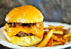 Burgers, Cheese burger and Bacon on Pinterest