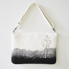 hand-felted laptop case - how gorgeous!