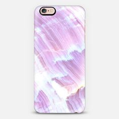Purple White Marble - Classic Snap Case