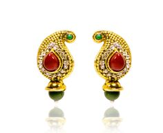 NEW  ETHNIC INDIAN BRIDAL BOLLYWOOD DESIGNER DROP EARRINGS WOMEN GOLD JEWELRY  #REEMAJEWELS #DropDangle