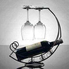 Decorative Red Wine Rack Bottle Holder Bar Home Corsair Shape Wine Rack Storage Wine Rack Storage, Wine Racks, Wine Glass Rack, Wine Bottle Holders, Wine Rack Plans, Bar A Vin, Expensive Wine, Wine Decor, Bars For Home