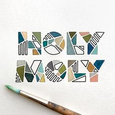 The overall style of these letters by member are just perfect! - - - The Ligature Collective is an… HOLY MOLY! The overall style of these letters by member are just perfect! - - - The Ligature Collective is an… Typography Drawing, Hand Lettering Art, Types Of Lettering, Lettering Styles, Typography Letters, Graphic Design Typography, Lettering Design, Guache, Lettering Tutorial