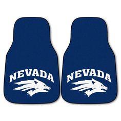 Nevada Reno Wolf Pack NCAA Car Floor Mats (2 Front)