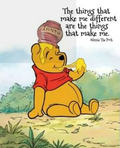 Each person is different . quotes & say*ngs winnie the pooh Pooh Winnie, Winnie The Pooh Quotes, Winnie The Pooh Friends, Winne The Pooh, Eeyore Quotes, Senior Quotes, Disney Quotes, Disney Songs, Cute Quotes