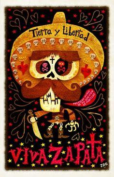 art illustrations, art prints, viva zapata, los muerto, art posters, de los, dia de, poster prints, design posters