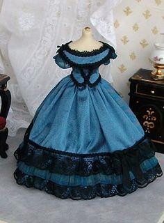 Miniature Silk Ballgown
