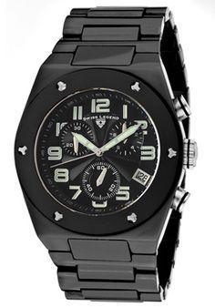 SWISS LEGEND Men's Throttle Chronograph Black Dial Black Ceramic10028-BKBSA