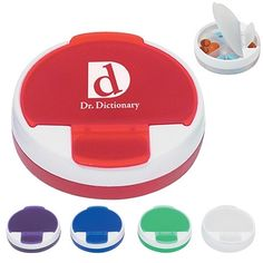 Promotional Pill Holders: Promotional Round Travel Pill Holder