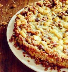 En enkel kaka med det lilla extra! Kakan blir porös och fluffig, och täcket knäckigt och segt med en liten kick. Kardemummakaka med salt tosca 175*C, 15+45minuter Ingredienser 2 dl mandel 1 dl valnötter 1 dl hasselnötter 2 ägg 1,5 dl strösocker 2 dl vetemjöl 1 tsk bakpulver
