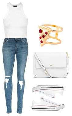 """vintage"" by sophierose6446 on Polyvore featuring Topshop, Converse, Tory Burch, Glenda López, vintage, women's clothing, women, female, woman and misses"