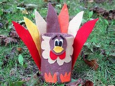 Tin Craft: Tin Can Thanksgiving Turkey Craft - Holiday Crafts for Kids Thanksgiving Preschool, Thanksgiving Crafts For Kids, Fun Crafts For Kids, Thanksgiving Decorations, Holiday Crafts, Holiday Ideas, Craft Decorations, Thanksgiving Turkey, Happy Thanksgiving